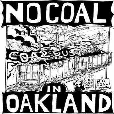 NCIO Logo, square version of No Coal in Oakland Posters