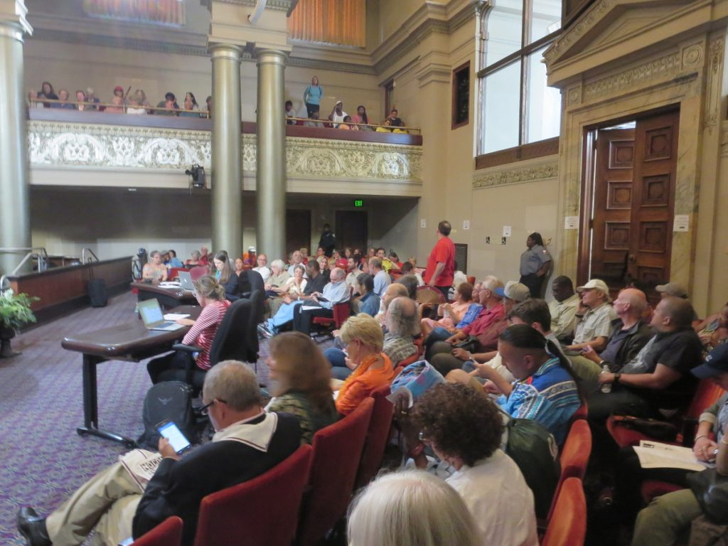 The Oakland City Council Chambers as the waits for the meeting to begin, 2016-06-27. Photo credit: Steve Masover.