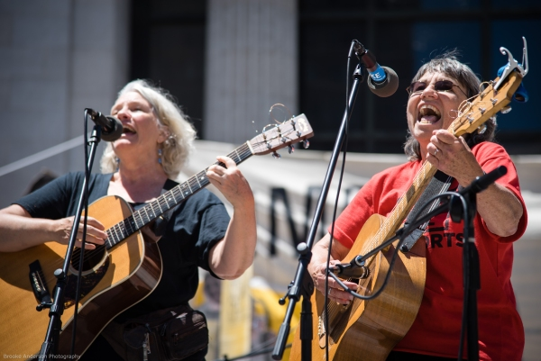 Marcie Boyd and Bonnie Lockhart of Occupella Photo: Brooke Anderson
