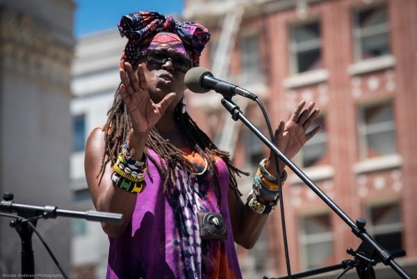 Sistah Phavia Kujichagulia, musician, spoken word artist, historian Photo: Brooke Anderson