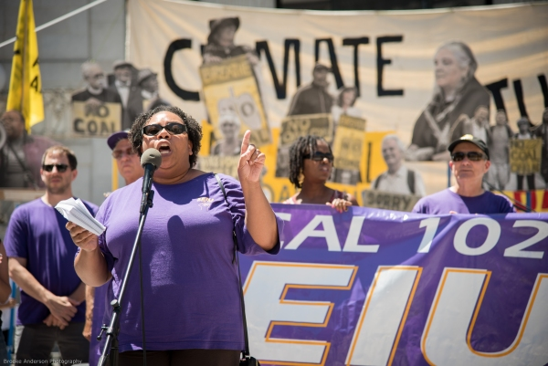 Kimberly Moses, Port of Oakland chapter president for SEIU 1021 Photo: Brooke Anderson
