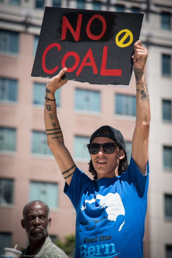 """No Coal"" Photo: Brooke Anderson"