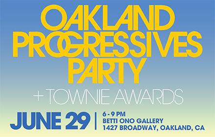 Oakland Rising Townie Award logo