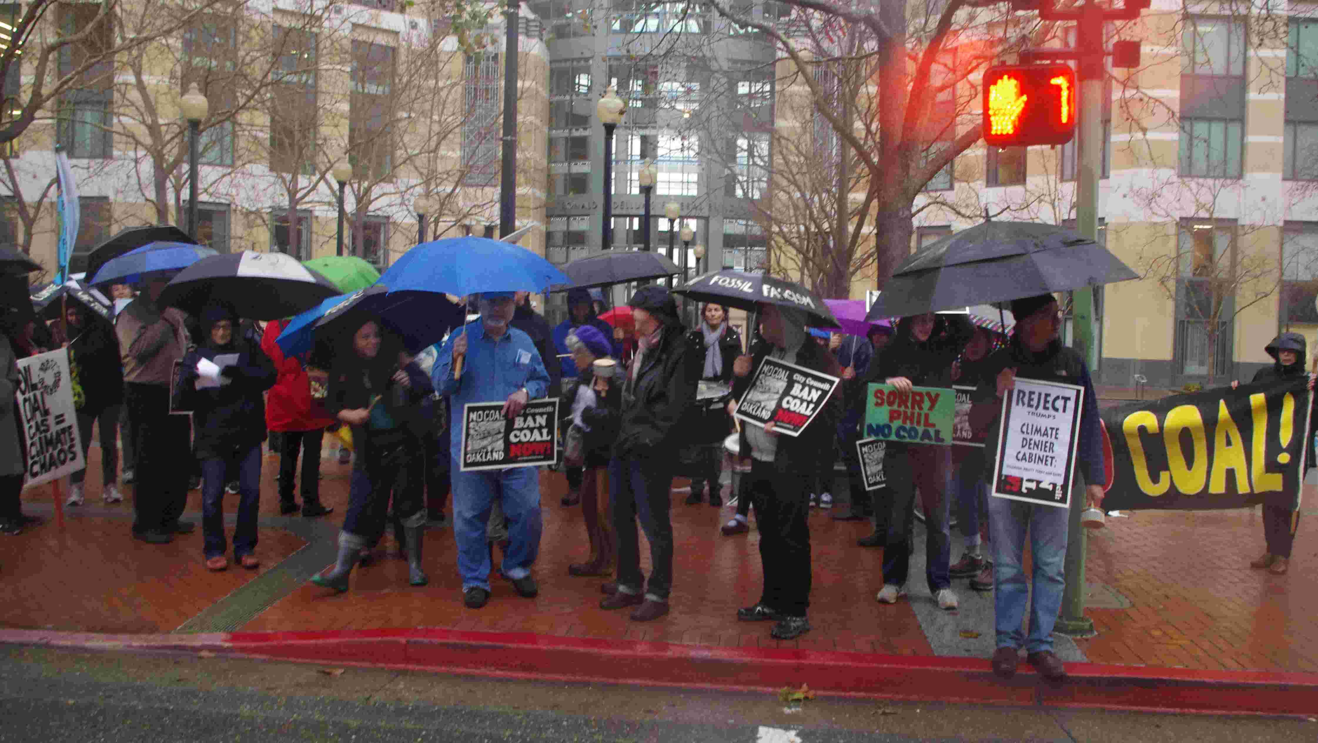 Families Against Fossil Fuels protest Tagami's lawsuit outside Oakland's Federal Building