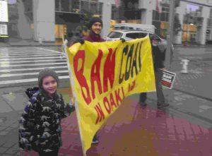 Ban Coal in Oakland banner