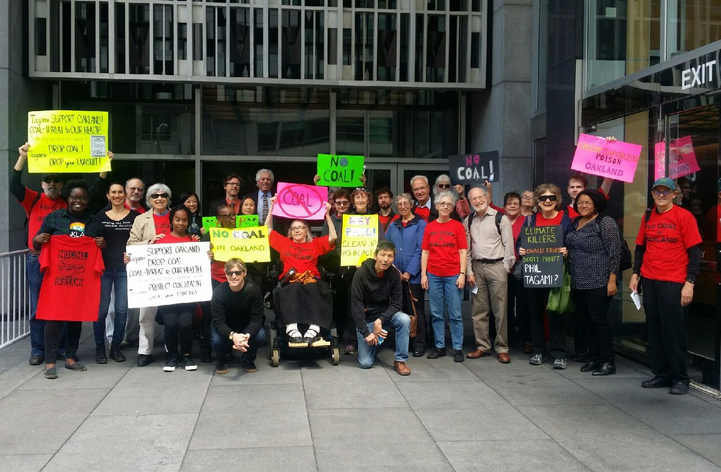 No Coal at the Federal Courthouse in San Francisco 4-20-17