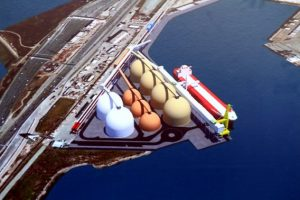 Artist's rendition of the Oakland Bulk and Oversized Terminal