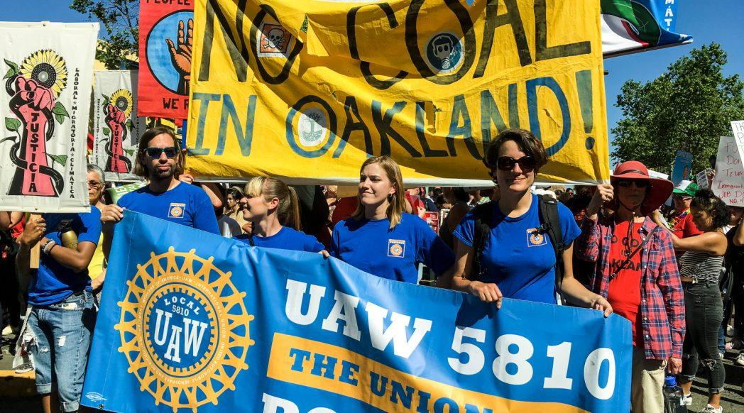 No Coal in Oakland at the May Day march (Oakland, California; 1 May 2017). Photo: Steve Nadel.