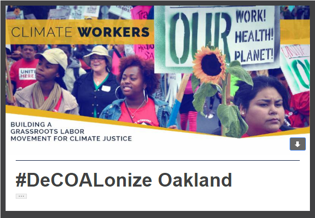 #DeCOALonizeOakland - Climate Workers - 2017-11-21