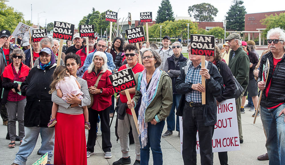 Rally before the Richmond Planning Commission meeting, 2019-07-18 (photo: Steve Nadel)